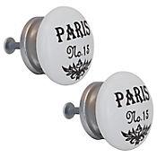 Pomo Porcelana 40Mm Paris No 15 2Und Fixser