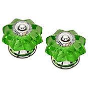Pomo Cristal Verde 40Mm 2Und Fixser