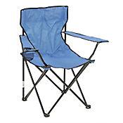 Silla De Camping Color Azul Con Bolsa