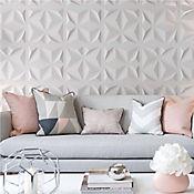 Panel Decorativo Triángulos Blanco Caja 3m2 (12 Paneles)