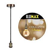 Lámpara Colgante Vintage 1 Luz E27 Bronce