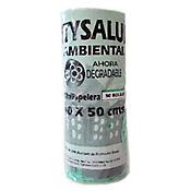 Bolsa Residuos Verde 40 x 50 cm Rollo 50 Unidades