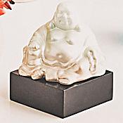 Escultura  Buddha Sentado Jaz 17.5 cm  Champaña