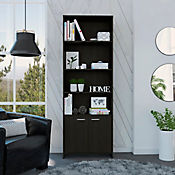 Biblioteca Lisa con Puerta 1.80 180x63x26cm Wengue