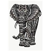 Tapiz Gobelino Elefante Blanco Y Negro 140x190