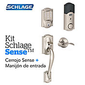 Kit Sense Camelot Satín+Manijón  Izquierd Schlage