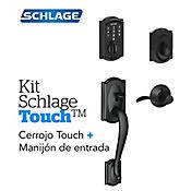 Kit Cerradura Digital Touch Camelot Negro+Manijón