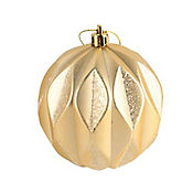 Esfera 8cm Bufón Glitter Gold Magic