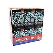 Juego De 100 Luces Led Blanca Timer