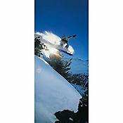 Fotomural Puerta Tabla Nieve 0,92x2,20 Metros