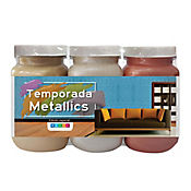 Kit x 3 Colores Metallics Sunset Orange Golden Sun y Almendra Brillante 250 cc