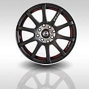 Rin 13 Aluminio 355 Negro