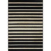 Tapete Carrera Rayas 150 x 220 cm Negro