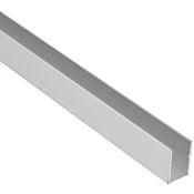 Perfil U Aluminio Brillante 10X10mm 1m