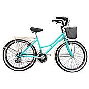 Bicicleta Playera R- 24 18 Cambios Verde Bpla2401