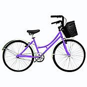 Bicicleta Playera R- 24 Sin Camb Morado Bplas2401