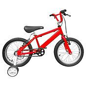 Bicicleta Niño R- 16 C/Auxiliares Roja Bin1603