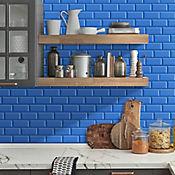Pared Cerámica Decorado Oxford 34x50 Centímetros Caja 2.38m2 Azul