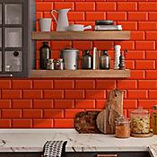 Pared Cerámica Decorado Oxford Vermelho 34x50 cm Caja 2.38 m2 Roja