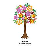 Aplique Árbol Flores Color