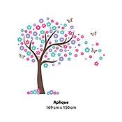 Aplique Árbol Flor Mariposa