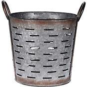 Maceta Redonda Metal 27Cm