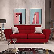 Sofá Dali 3 Puestos Rojo