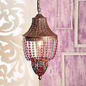 Lámpara Colgante 1 Luz E27 Bronce Colores