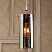 Lámpara Colgante Tubo Cromo 1 Luz E27