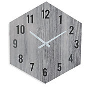 Reloj Hexágono 50,5 cm Gris Texas