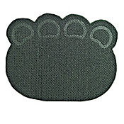 Tapete Antideslizante para Mascotas Huella Negro 72 cm x 57 cm