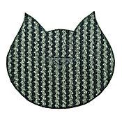 Tapete Antideslizante para Mascotas Gato's Negro - Gris 72 cm x 45 cm