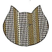 Tapete Antideslizante para Mascotas Gato's Café - Beige 72 cm x 45 cm