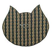 Tapete Antideslizante para Mascotas Gato's Negro - Cobre 72 cm x 45 cm