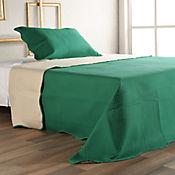 Quilt Microfibra Sencillo Verde/Beige 165x220 cm