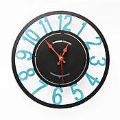 Reloj De Pared Números Negro Mate