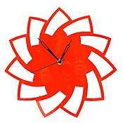 Reloj De Pared Espiral Rojo