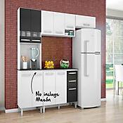 Cocina Integral Isadora 2.02 Metros 11 Puertas 2 Cajones Blanco/Negro