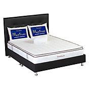 Colchón Confortable 160 Queen 160 x 190 x 42 cm + Base Cama + Cabecera + Protector para Colchón + 2 Almohadas