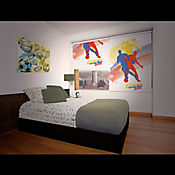 Persiana Blackout Impreso 120x180 cm Colombia Mundial