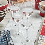 Set X 4 Copas Vino Blanco 380ml Cristal