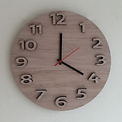 Reloj Pared Circular 34 cm Flotado