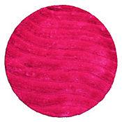 Tapete Sad 80x80 cm Redondo Rosado