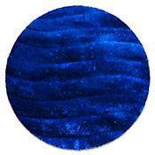 Tapete Sad 80x80 cm Redondo Azul