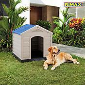 Casa para Perro Plástica 92 x 90 x 89 cm Azul Razas Medianas y Grandes