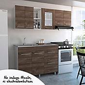 Cocina Integral Kira 1.20 Metros 8 Puertas 1 Cajones Rovere