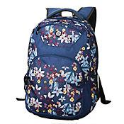 Morral Escolar Zissua Estampado Flores Azules