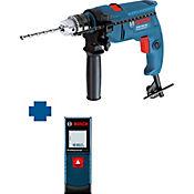 Taladro Percutor 1/2 550W + Medidor Laser 20M