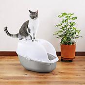 Arenero Para Gato Gris Metalizado