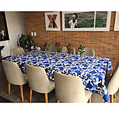 Mantel 146x180cm Azul Acuarela